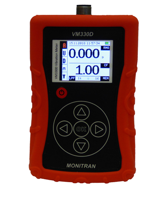 Portable vibration meter from Monitran stores up to 100 readings