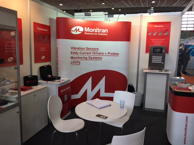 Monitran's stand at Maintenance 2017